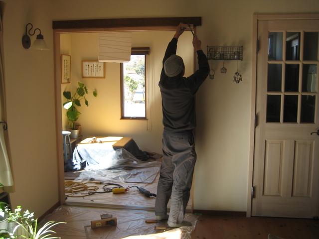 和室に引違戸を増設しました。